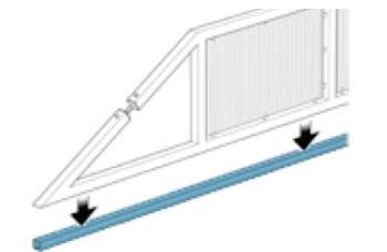 Как сделать направляющий рельс для откатных ворот