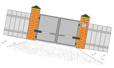 Распашные ворота came ремонт