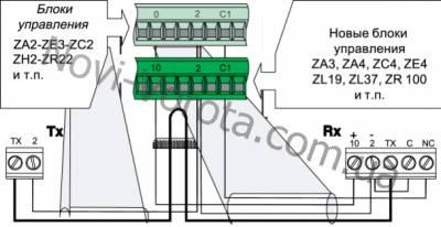 Схема подключения фотоэлементов распашных ворот came