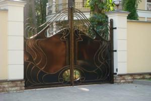 Как установить навесные ворота дорхан